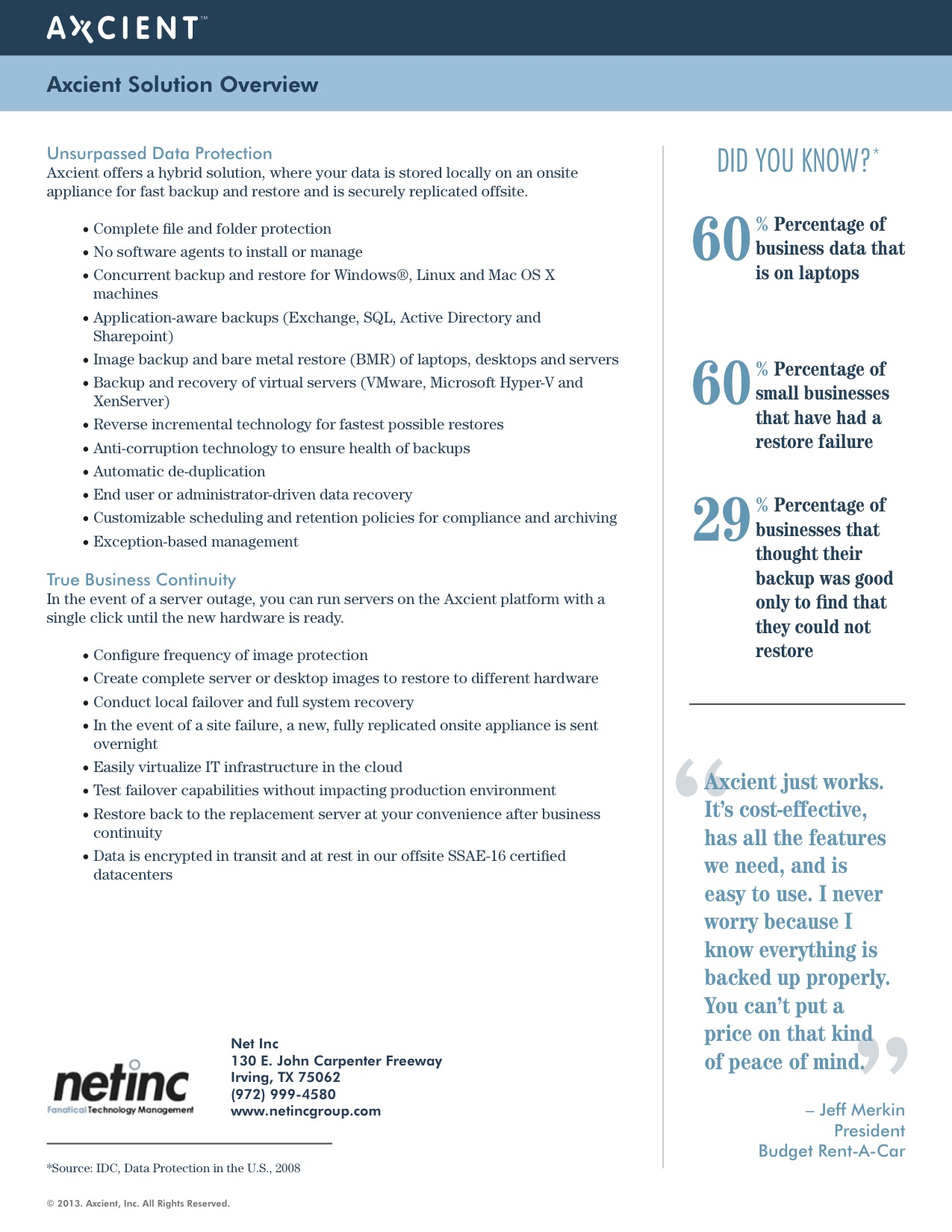 Net Inc Worry Free Business Continuity2